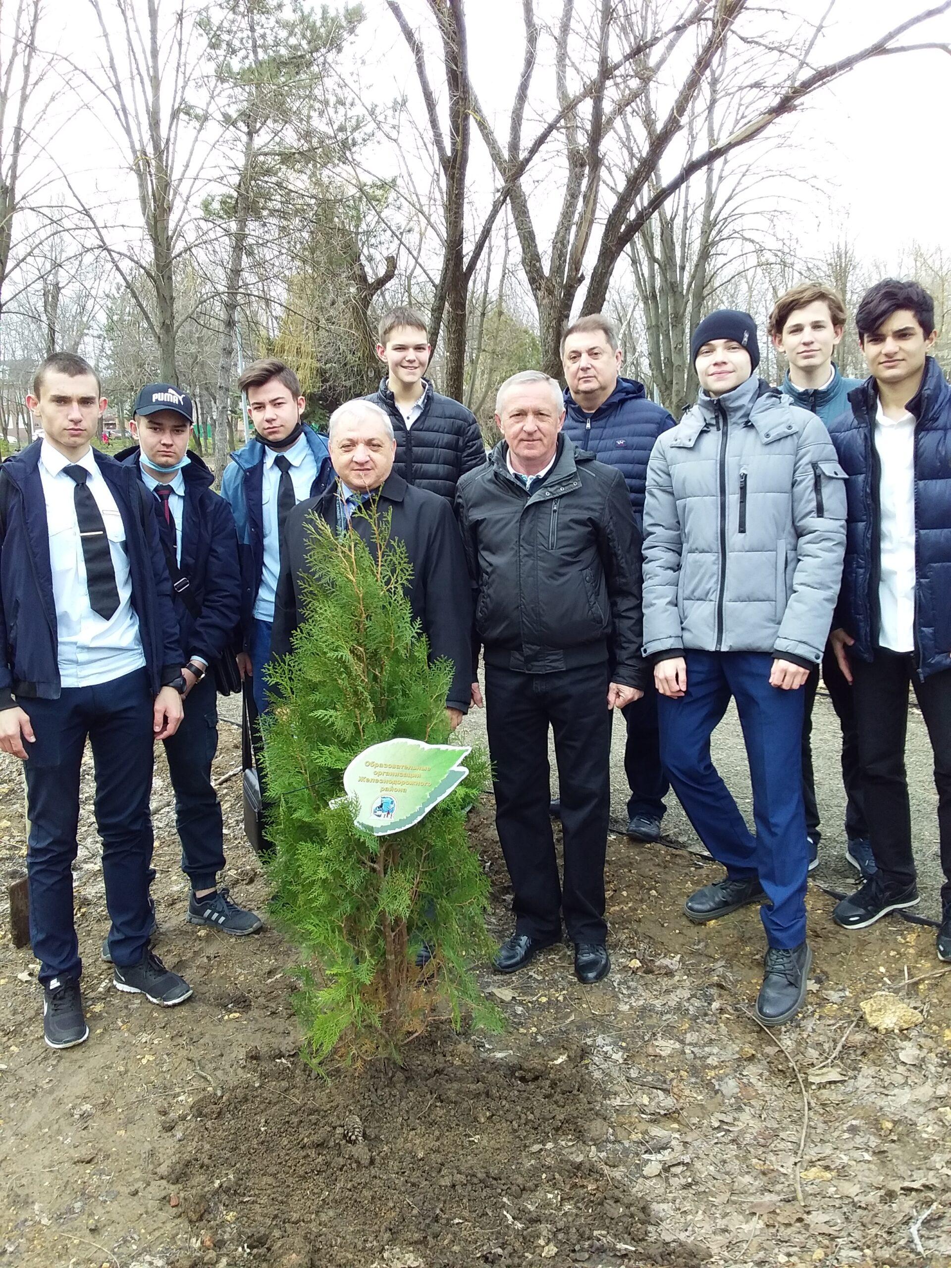 Акция «Высадка деревьев в честь 60-летия Ю. А. Гагарина в космос»